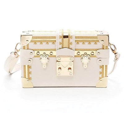 KAREN SQUARE CROSSBODY BAG-WHITE