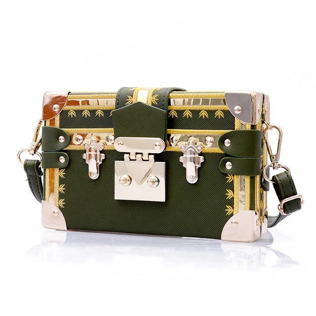 KAREN SQUARE CROSSBODY BAG-GREEN