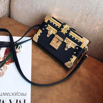 KAREN SQUARE CROSSBODY BAG-BLACK