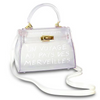 ADLEY WHITE CLEAR BAG-SMALL