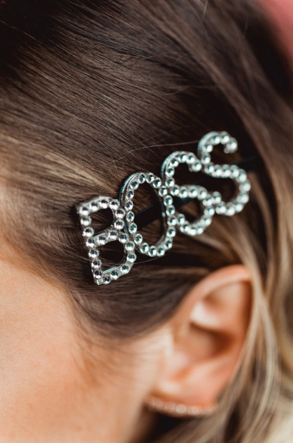 Rhinestone Word Hair Pin -Swarovski Crystal
