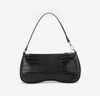 Lara Shoulder Bag - Black Croc