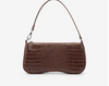 Lara Shoulder Bag - Brown Croc