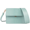 Mini Flap Bag - Blue Croc