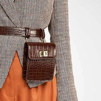 LARA CROC BELT BROWN BAG