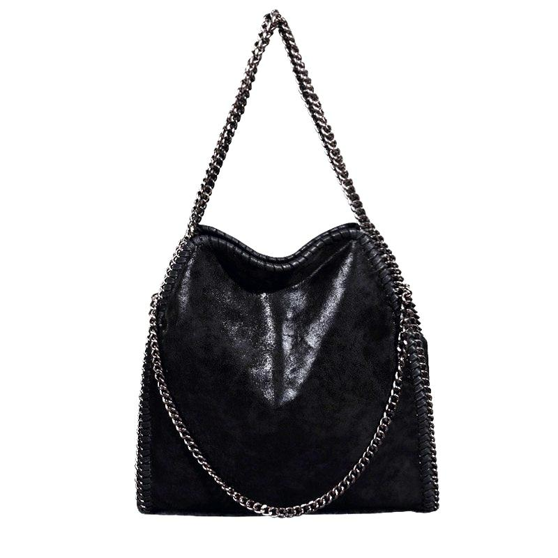 KAYLA BLACK CHAIN SHOULDER BAG