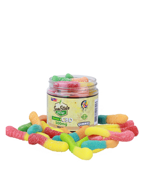 Sun State Hemp - CBD Gummy Worms - Edibles & Gummies - 500MG - Sun State Hemp - Have A Nice Day CBD