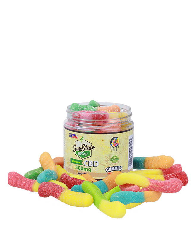Sun State Hemp - CBD Gummy Worms - Have A Nice Day CBD