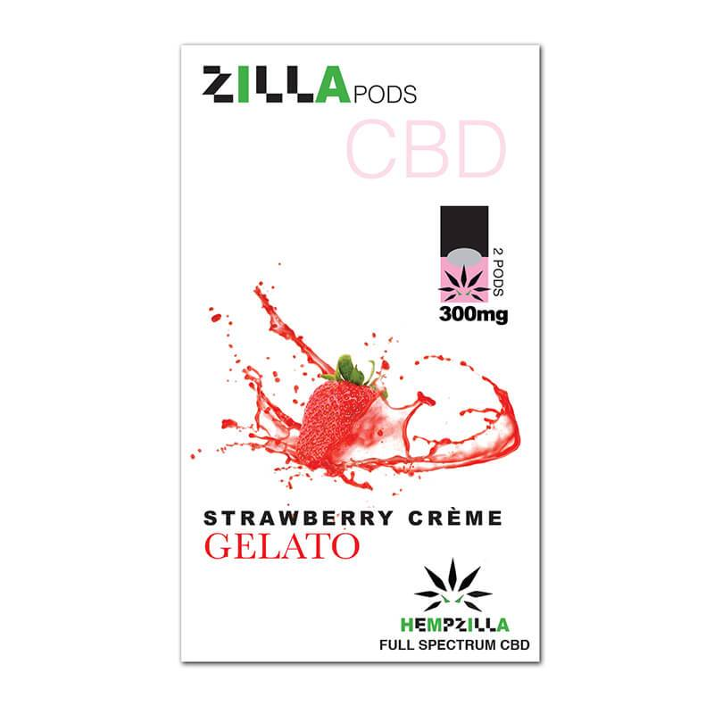 Hempzilla - CBD Pod - Strawberry Creme Zilla Pods - 2pc-300mg -  -  - Hempzilla - Have A Nice Day CBD