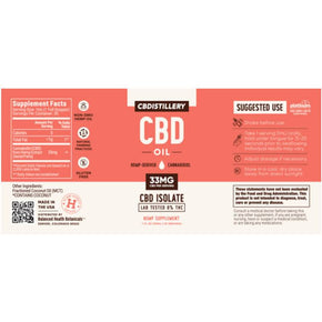 CBDistillery - CBD Tincture - Isolate Oil - 1000mg -  -  - CBDistillery - Have A Nice Day CBD