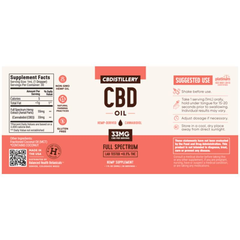 CBDistillery - CBD Tincture - Full Spectrum - 1000mg -  -  - CBDistillery - Have A Nice Day CBD