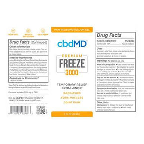 cbdMD - Premium FREEZE - 3000mg -  -  - cbdMD - Have A Nice Day CBD