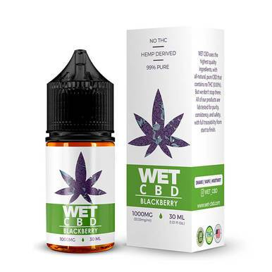WET CBD - CBD Vape - Blackberry - 500mg-1000mg - Vape -  - WET CBD - Have A Nice Day CBD