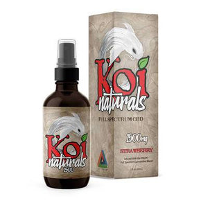Koi CBD - CBD Tincture Spray - Full Spectrum Strawberry - 1500mg-3000mg - Oils -  - Koi CBD - Have A Nice Day CBD