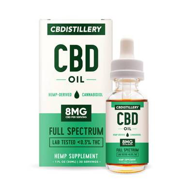 CBDistillery - CBD Tincture - Full Spectrum - 250mg - Oils -  - CBDistillery - Have A Nice Day CBD