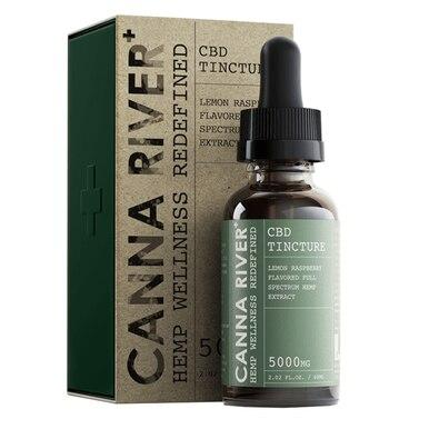 Canna River - CBD Tincture - Full Spectrum Lemon Raspberry - 1000mg-5000mg - Oils -  - Canna River - Have A Nice Day CBD