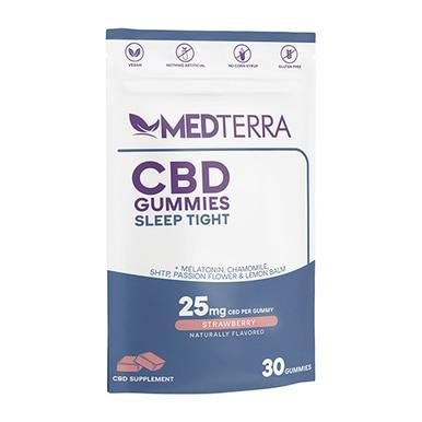 Medterra - CBD Edible - Sleep Tight Strawberry Isolate Gummies - 25mg - Edibles -  - Medterra - Have A Nice Day CBD