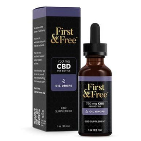 First & Free - CBD Tincture - Unflavored Oil Drops - 750mg - Oils -  - First & Free - Have A Nice Day CBD
