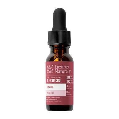 Lazarus Naturals - CBD Tincture - High Potency Full Spectrum 1:1 CBG:CBD Oil - 375mg-1500mg - Oils -  - Lazarus Naturals - Have A Nice Day CBD