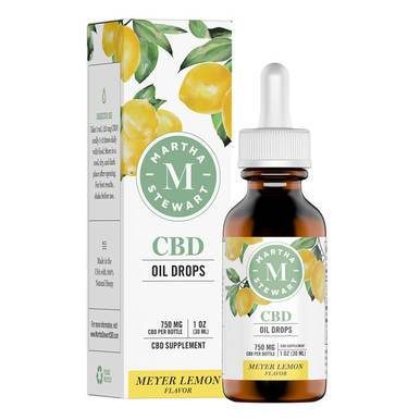 Martha Stewart - CBD Tincture - Meyer Lemon Drops - 750mg - Oils -  - Martha Stewart - Have A Nice Day CBD