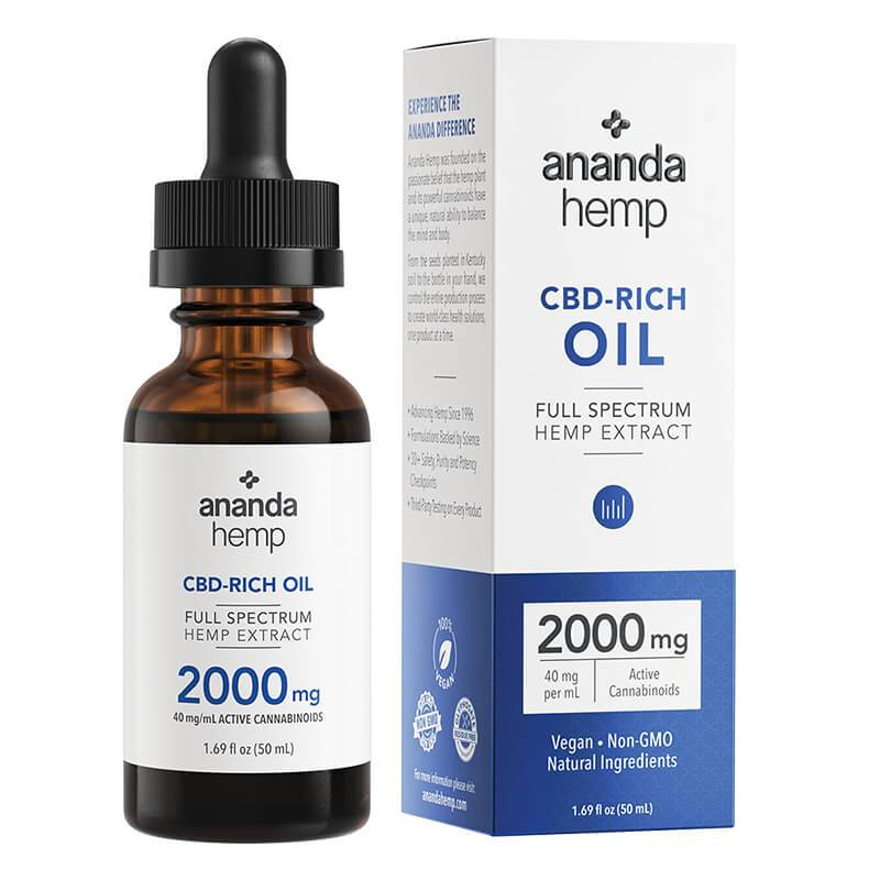 Ananda Hemp - CBD Tincture - Full Spectrum Hemp Extract - 300mg-2000mg - Oils - 50ml - 2000mg - Ananda Hemp - Have A Nice Day CBD