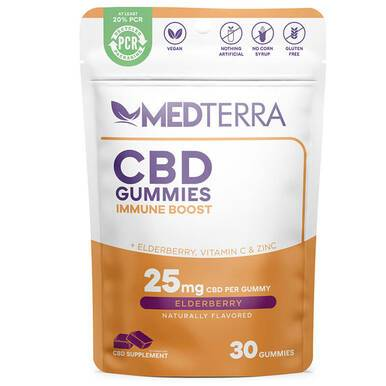 Medterra - CBD Edible - Immune Boost Elderberry Gummies - 25mg - Edibles -  - Medterra - Have A Nice Day CBD