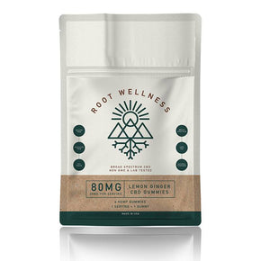 Root Wellness - CBD Edible - Lemon Ginger Gummies 4 Pack Pouch - 20mg - Edibles -  - Root Wellness - Have A Nice Day CBD