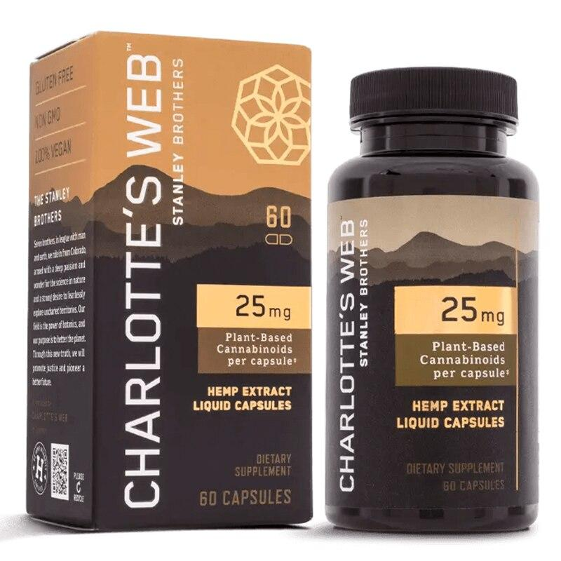 Charlottes Web - CBD Capsules - Full Spectrum Hemp Extract - 25mg - Oils - 60 Count - 25mg - Charlotte's Web - Have A Nice Day CBD