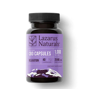 Lazarus Naturals - CBD Capsules - Relaxation Isolate Blend - 25mg - Oils - 40ct - 1000mg - Lazarus Naturals - Have A Nice Day CBD
