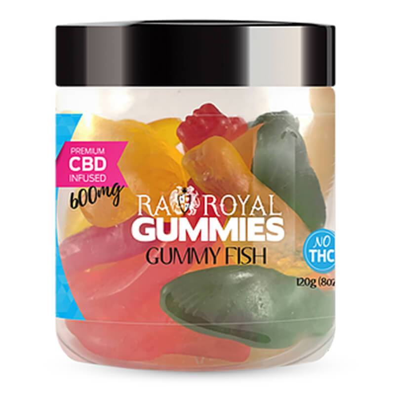 RA Royal CBD - CBD Edible - Gummy Fish Gummies - 300mg-1200mg - Edibles - 8oz - 600mg - RA Royal CBD - Have A Nice Day CBD