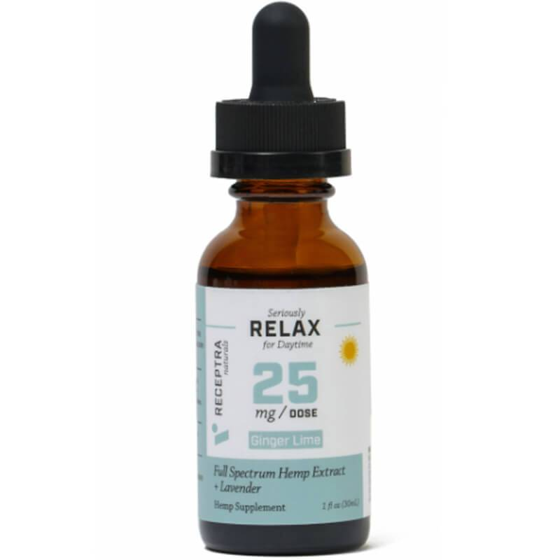 Receptra Naturals - CBD Tincture - Full Spectrum RELAX + Lavender - 25mg/1ml - Oils - 30ml - 25mg/ml - Receptra Naturals - Have A Nice Day CBD