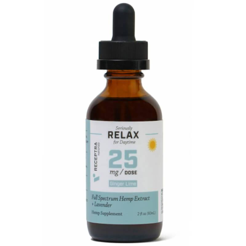 Receptra Naturals - CBD Tincture - Full Spectrum RELAX + Lavender - 25mg/1ml - Oils - 60ml - 25mg/ml - Receptra Naturals - Have A Nice Day CBD