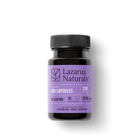 Lazarus Naturals - CBD Capsules - Relaxation Isolate Blend - 25mg - Oils - 10ct - 250mg - Lazarus Naturals - Have A Nice Day CBD