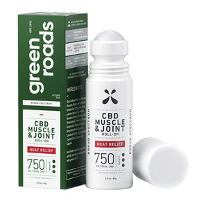 Green Roads - CBD Topical - Heat Relief Muscle & Joint Roll-On 150mg-750mg - Bodycare - Single - 750mg - Green Roads - Have A Nice Day CBD