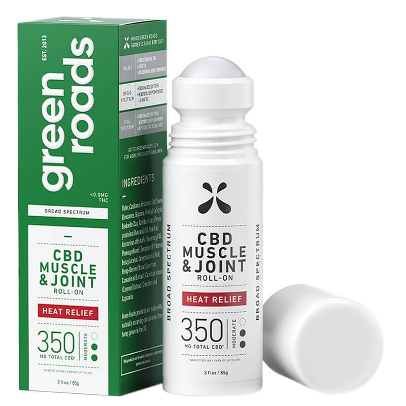 Green Roads - CBD Topical - Heat Relief Muscle & Joint Roll-On 150mg-750mg - Bodycare - Single - 350mg - Green Roads - Have A Nice Day CBD