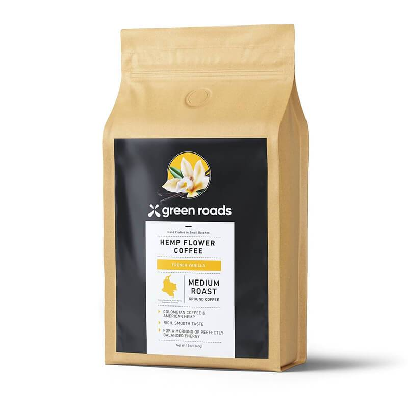 Green Roads - CBD Coffee - French Vanilla -  - 12oz - Green Roads - Have A Nice Day CBD