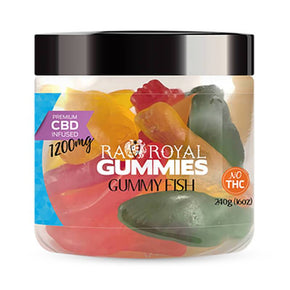 RA Royal CBD - CBD Edible - Gummy Fish Gummies - 300mg-1200mg - Edibles - 16oz - 1200mg - RA Royal CBD - Have A Nice Day CBD