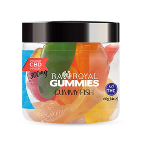 RA Royal CBD - CBD Edible - Gummy Fish Gummies - 300mg-1200mg - Edibles - 4oz - 300mg - RA Royal CBD - Have A Nice Day CBD