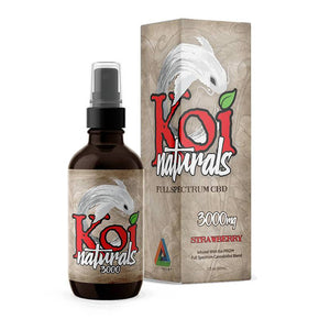 Koi CBD - CBD Tincture Spray - Full Spectrum Strawberry - 1500mg-3000mg - Oils - 3000 MG - Koi CBD - Have A Nice Day CBD