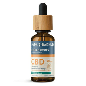 Papa & Barkley - CBD Tincture - Releaf Drops Lemongrass Ginger - 450mg-900mg - Oils - 30ml - 900mg - Papa & Barkley - Have A Nice Day CBD