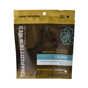 Charlottes Web - CBD Pet Edible - Full Spectrum Calming Chews - 75mg-150mg - Pets - 30 Count - 75mg - Charlotte's Web - Have A Nice Day CBD