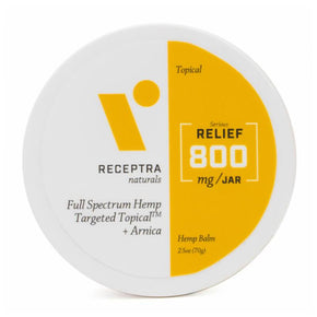 Receptra Naturals - CBD Topical - Full Spectrum Balm + Arnica - 400mg-800mg - Bodycare - 2.5oz - 800mg - Receptra Naturals - Have A Nice Day CBD