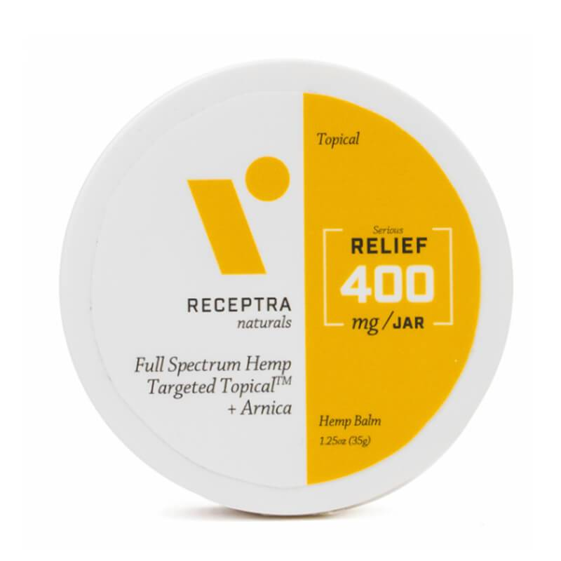 Receptra Naturals - CBD Topical - Full Spectrum Balm + Arnica - 400mg-800mg - Bodycare - 1.25oz - 400mg - Receptra Naturals - Have A Nice Day CBD