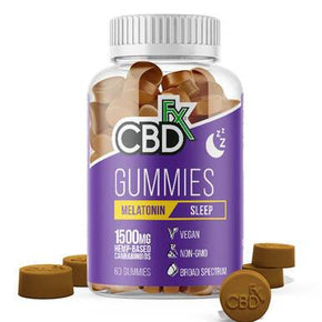 CBDfx - CBD Edible - Broad Spectrum Melatonin Sleep Gummies - 25mg - 1500mg - Edibles -  - CBDfx - Have A Nice Day CBD