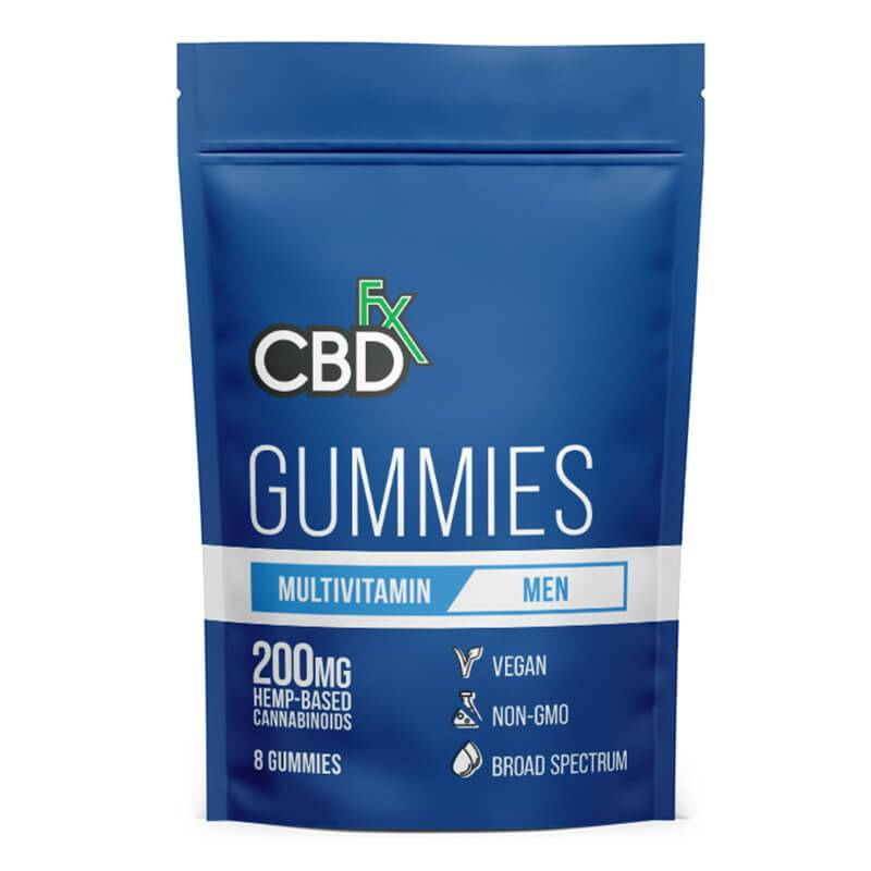 CBDfx - CBD Edible - Broad Spectrum Mens Multivitamin Gummies - 25mg - 1500mg - Edibles - 8ct Pouch - 200mg - CBDfx - Have A Nice Day CBD