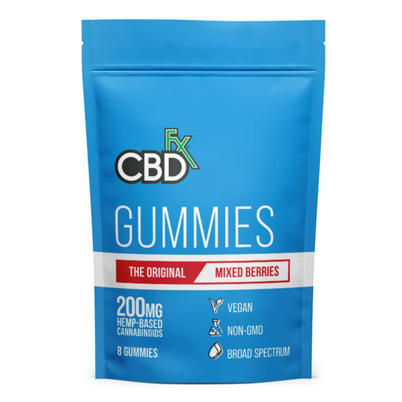 CBDfx - CBD Edible - Broad Spectrum Original Mixed Berries Gummies - 25mg - 1500mg - Edibles - 8ct Pouch - 200mg - CBDfx - Have A Nice Day CBD