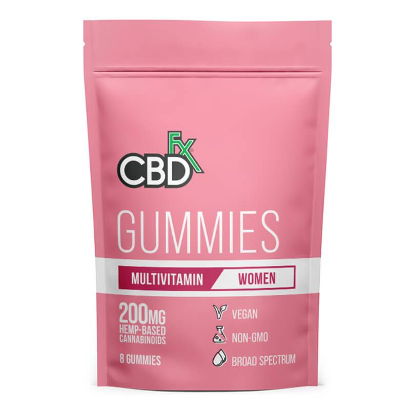 CBDfx - CBD Edible - Broad Spectrum Womens Multivitamin Gummies - 25mg - 1500mg - Edibles - 8ct Pouch - 200mg - CBDfx - Have A Nice Day CBD
