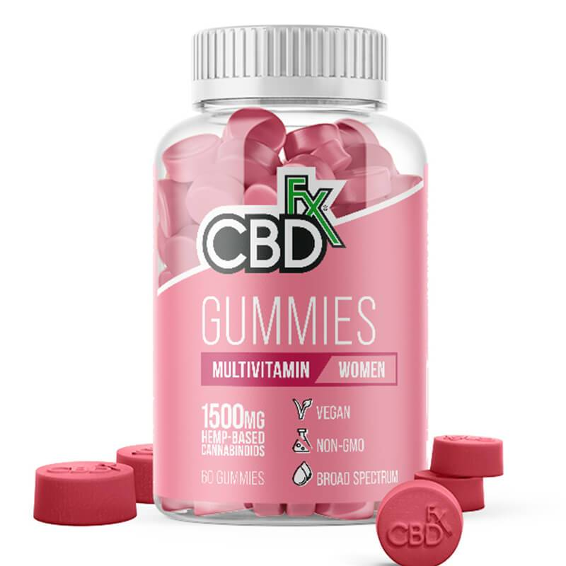 CBDfx - CBD Edible - Broad Spectrum Womens Multivitamin Gummies - 25mg - 1500mg - Edibles - 60ct Bottle - 1500mg - CBDfx - Have A Nice Day CBD