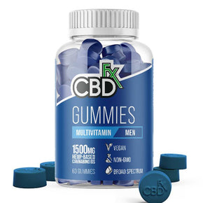 CBDfx - CBD Edible - Broad Spectrum Mens Multivitamin Gummies - 25mg - 1500mg - Edibles - 60ct Bottle - 1500mg - CBDfx - Have A Nice Day CBD