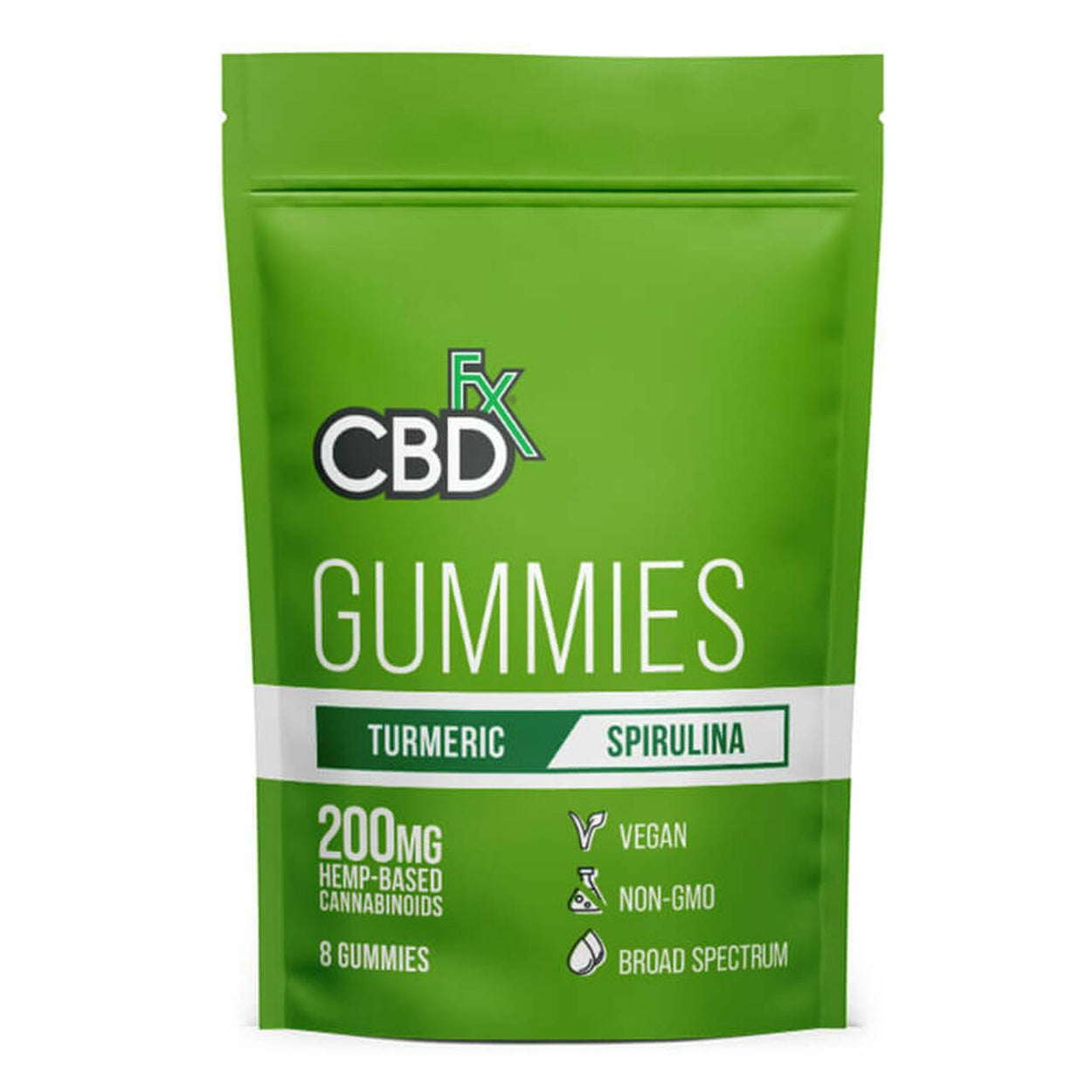 CBDfx - CBD Edible - Broad Spectrum Turmeric & Spirulina Gummies - 25mg - 1500mg - Edibles - 60ct Bottle - 1500mg - CBDfx - Have A Nice Day CBD